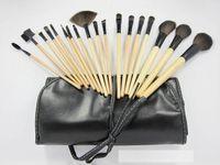 Wholesale New Professional Makeup Brushes Set Khaki Cosmetics Brushes Kits Tools Makeup Brushes Eyebrow Comb With Roll Black PU Bag