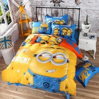 Wholesale Purple Sofia Minions D Printed King Queen Twin Size Cotton Duvet Cover Bed Linen Kids Cartoon Bedding Set Sheet