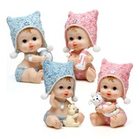 Wholesale New Arrivals lovely baby small square hat Doll cake topper ornaments Interior Accessories Articles birthday gift Desk ornaments