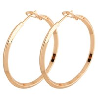 large hoop earrings - New Fashion Circle Polished Shiny Gold Plated Extra Large Back Hoop K Gold Filled Earrings mm Diameter