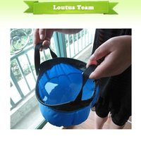 Wholesale Blue Portable L Folding Basin Foldable Washbasin Wash Bag for Camping and Outdoors