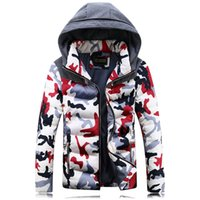 men winter parka - winter mens jacket Fashion camouflage parka casual thickening hooded cotton padded windproof outwear young man streetwear winter camo coats