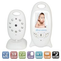 baby monitor remote temperature - Wireless Video inch Color Baby Monitor Security Camera Way Talk NightVision IR LED Temperature Monitoring with Lullaby