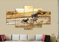 african grassland animals - African grassland Painting Canvas Wall Art Picture Home Decoration Living Room Canvas Print Modern Painting on Canvas