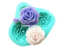 silicone molds - Best Selling D Silicone molds Cake Toppers Chocolate Soap Hole Rose Flower Sugarcraft Decorating Mold b9 TK1029