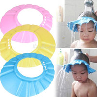 Wholesale Adjustable Convenient Baby Child Kids Shampoo Bath Shower Cap Hat Wash Hair Shield K5BO