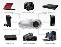 Wholesale Portable LED Projector LCD Multimedia Home Cinema HD Projector HDMI VGA USB AV TV1080P full hd Proyector Beamer Projector FREESHIPPING