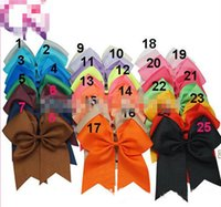 cheer bow holder - Hot Sale Large Cheer Bow With Elastic Band Cheerleading Hair Bow Cheer Bow Ponytail Hair Holder For Girls pieces
