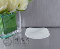 Wholesale 4 quot Square Sauce Dish Grain bone china Plate Porcelain Dinner Trays For Food Bone Set For Restaurant Porcelain home Housewear Kitchen