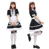 adult outfits - Sexy Adult Woman s Short Sleeve French Maid Servant Costume Outfit Japanese Slave Girl Lolita Fancy Dresses Partywear Exotic Apparel