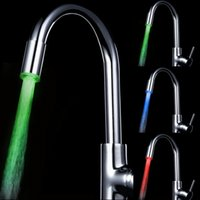 Wholesale Luxury Led Shower Faucet Temperature LED Water Faucet Light Chrome LED Faucet Lights for Sale LD8002 A6