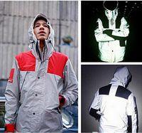 Wholesale Mens windbreaker Suprem jacket M Flag reflective Outdoor Waterproof Windproof Sports college sportswear hoody coats hot sale