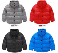 Wholesale brand Children Winter Coats Down Jackets Winter Outwear Boys Girls Keep Warm Jacket Coats Kids Baby Thickening Down Coat