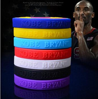 Wholesale Sports Basketball Bracelet Power Bands Balance Energy Silicone Wristband By Kobe Bryant Basketball MVP Star Player P0587