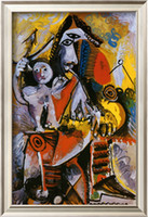 abstract art pablo picasso - Musketeer and Cupid c by Pablo Picasso Paintings for sale High quality abstract art oil painting Canvas Home Decor Hand painted