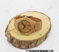 Nuevos 2016 relojes de bambú venden como pan caliente de ébano de alta calidad de moda de los relojes mesa de madera Mejor la venta de estilo europeo y americano
