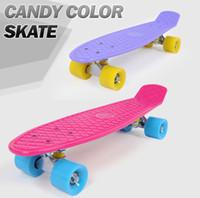 wave board - Upgraded Newest Design Skate Board Strong Long Wheel Flying Wave Skateboard Girl Boy Christmas Birthday Gift Toy
