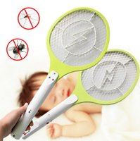 mosquito racket - Rechargeable Electric Insect Bug Bat Wasp Mosquito Zapper Swatter Racket anti mosquito killer Electric Mosquito Swatter ss270