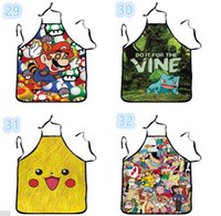 Wholesale 10pcs Star Wars Top Kitchen Apron style To Choose Funny Personality Cooking Apron Anime Cartoon Character Apron