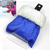 snow shovel - Gloved Snow Shovel Deforst Snow Ice Scraping Scaper Winter Auto Car Vehicle Snow Removing Shovels with Glove Cover