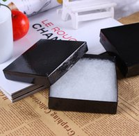 Wholesale Square Shape Black Jewelry Box x9CM Paper Packaging Box For Earrings Rings Bracelet Necklace Display Retail Packaging
