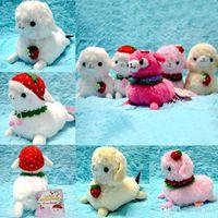 arpakasso hat - 12cm cm cm Baby Alpacasso Strawberry Hat Ball Shawl Arpakasso Alpaca Plush Stuffed Doll Toy