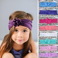 Summer hair turban - NEW Kids Headband Baby Girls Headwear Infant Headband Baby Turban Cotton Knit Headband Girls Hair Accessories