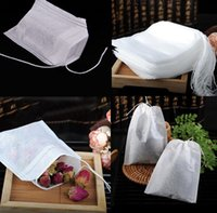 Wholesale 100pieces cm Disposable Loose Empty Clean String Heat Seal Filter Paper Tea Bag
