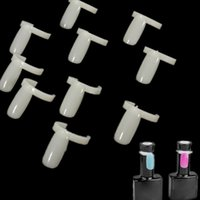 Wholesale Pack Salon Beige Plastic False Manicure Nail Art Equipment Decoration Tips Tools