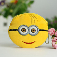 Wholesale Kawaii Despicable ME Yellow Minions Coin Purses Wallet Pouch Case BAG Bags Beauty Handbag for children gifts