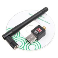 Wholesale Mini M Mbps M Mbps USB WiFi Wireless Network Card n g b LAN Adapter with Antenna Software Driver DHL Free
