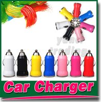 Wholesale Bullet Mini USB Car Charger Adapter Colorful Charging For Apple iphone S S C Samsung NOTE Blackberry HTC Smartphone ipod touch