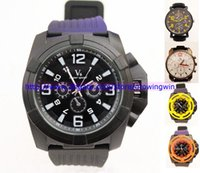 Wholesale Mixed sales Fashion Style V6 Brand Big dail men watch silicone straps Sport Steel Case Military Luxury Watches