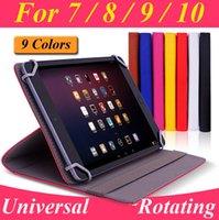 Acheter Nexus rotation étui en cuir-Étui en cuir universel pivotant PU pour 7 8 9 10 10.1 10.2 pouces Tablet PC MID iPad Samsung Galaxy Kindle Incendie Google Nexus ASUS acer