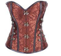 Wholesale Burvogue new steel bone corset steampunk waist training corsets for women body shaper waist cincher corset punk corselets