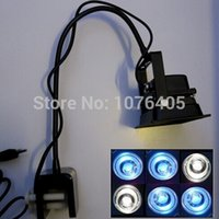 Wholesale customize color New Practical Lighting Accessories DIY aquarium lamp holder with switch gooseneck clamp fish tank lamp base