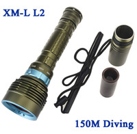 Wholesale Skyray DX7 CREE XM L2 LM LED Diving Flashlight Underwater Lamp Torch Diving flashlight Waterproof power by battery