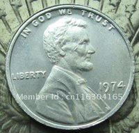 aluminum cent - 1974 Aluminum Lincoln Wheat Cent Penny
