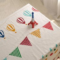bar high tables - Cute Cartoon Pattern Cotton amp Linen Tablecloth Dustproof Rectangular Table Cloth Hotel Bar Cafe Table Covers High Quality