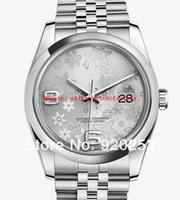 auto flowers - High quality silvery flower Crystal unisex new arrivel Automatic Mechanical Wrist Watch mm gift
