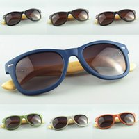 PC bamboo retail - Retail Free Shipment Wood Sunglasses Designer Bamboo Sunglass Eyewear Glasses Unisex Design UV400 Protection Colors