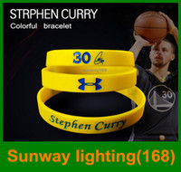 100шт Спорт Баскетбол Браслет диапазонам мощности Баланс Энергия Силиконовый браслет Стивен Карри Баскетбол 30 MVP Wristband BY DHL