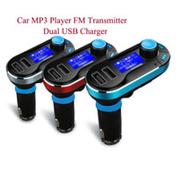 Cheap Free Shipping - Universal Car Bluetooth MP3 Player FM Transmitter Hands-free Car Kit with Remote Control Dual USB Charger for Phone PC