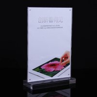Wholesale pack DHL air express elegant A4 size table counter acrylic signage frames holder