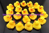 Wholesale 50pcs New Baby Bath Water Toy toys Sounds Yellow Rubber Ducks Kids Bathe Children Swiming Beach Duck Ducks Gifts Free Ship