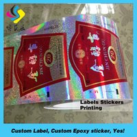 Wholesale 100 Direct Manufacture Adhesive Label Sticker Printing Glossy Roll Self Adhesive Label
