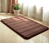 Wholesale Hot Sale cm Colors Coral Fleece Soft Carpet Skid Resistance Water Absorption Area Rug Door Floor Mat