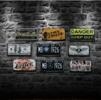 Wholesale 15 cm Metal Tin Sign Retro Vintage Classic Tin Bar Pub Home Cafe Clothes Shop Wall Decor Retro Famous Car Tin Poster