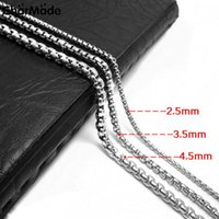 Wholesale Top Quality Classic Link Chain Necklace For Men Boys L Stainless Steel Chain Jewelry Charm Gift Never Fade inch C02