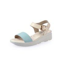 basic sandals - 2016 Fashion Low Heel Flat Ladies Sandals Cow Split Soft Basic Summer Style Womens Shoes Low Heel Flat Sandal